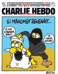 January 7, 2015 - Paris, France: Attack of two men on the headquarters of the satirical weekly Charlie Hebdo in Paris. Hooded and armed men broke into the headquarters of the newspaper opening fire with Kalashnikovs. Among the victims, as well as two agents, the editor of the weekly, Stephan Charbonnier, told Charb, editori in chef of the magazine, and the three most important cartoonists: Cabu, Tignous and George Wolinski. Front cover of the magazine. (Piero Oliosi/Polaris) (Newscom TagID: polspphotos101838.jpg) [Photo via Newscom]